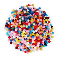 Pompons klein bunte Pom Pom Kugeln mini Pompom Bommel zum Basteln 1cm 1000er Set