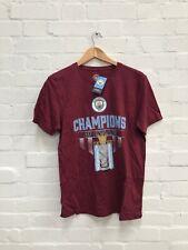 Manchester City FC Men's Champions Of England T-Shirt - Medium - Maroon - New