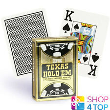 COPAG TEXAS HOLD'EM 100% PLASTIC JUMBO INDEX POKER CARDS CASINO DECK BLACK NEW