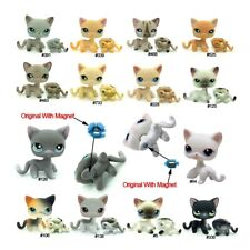 Random 3pcs Littlest Pet Shop LPS Toys Short Hair Cat With Magnet