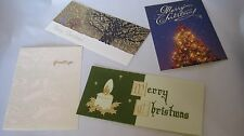 Japanese Greeting & Christmas Cards 4pieces set Beautiful Picture Free Shipping