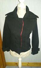 manteau caban noir veste courte à 2 poches Taille S