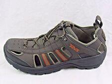 Teva Men's Kimtah Black Olive Leather Sandals - Size 10.5 - Shoes New in Box