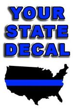 "THIN BLUE LINE STATE  DECAL  3"" to  4"""