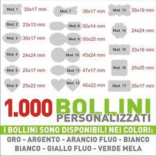 1.000 ETICHETTE - BOLLINI ADESIVI PERSONALIZZATI CON LOGO