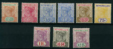 Seychelles SG28-36 QV Definitives 1897-1900 New Colours and Values (9 values)
