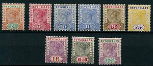 Seychelles SG28-36 QV Definitives 1897-1900 New Colours and Values (9 values)