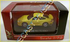 PORSCHE 911 TURBO YELLOW 1:72 DIECAST W/CASE ROAD SIGNATURE YATMING RARE!!