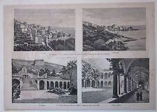1882 COLLEGIO PERONI BRESCIA CORSICA CORSE CERVIONE ERBALUNGA 4 xilografie
