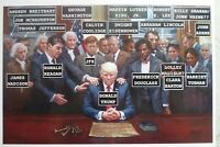 PRESIDENT DONALD TRUMP PRAYING WITH PAST PRESIDENTS 8X10 PHOTO POSTER PICTURE