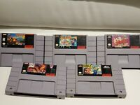 Lot of 5 SNES Games (Super Nintendo) - Mario All Stars, Donkey Kong Country 3