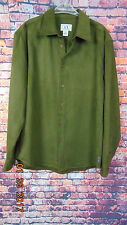 Men's Armani Exchange  Button Front Shirt  Size L Long Sleeves Green