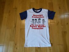 Vtg 1982 Nostalgia Productions 2nd Annual Boston BEATLES Convention T-Shirt Sm