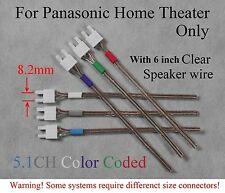 6c 8.2mm speaker cable/wire connectors made for old Panasonic home theater; read