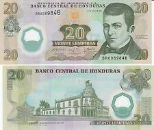 Honduras P95, 20 Lempira, José  Diaz del Valle / Old palace, UNC  2008 POLYMER!