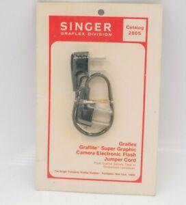 Rare NOS - Graflex Camera Super Graphic Graflite Jumper Cord Cable Singer #2805