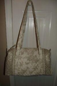 Vera Bradley Small Duffel Bag Natural Toile * NWOT
