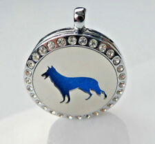 *Wolf - Crystals, Diffuser Necklace Locket Stainless Still 10ml Oil, 11 pads