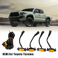 Set 4pcs Grille Led Amber Lights Light For 2016-2020 Toyota Tacoma TRD Pro