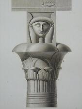 Gravure de la Description de l'Egypte - Karnak - Antiquités Vol III - 1809/1826