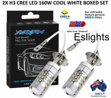 2X H3 LED CREE XBD 160W HEADLIGHT FOG DRIVING LIGHT BULBS CAR UTE 4WD LAMP GLOBE
