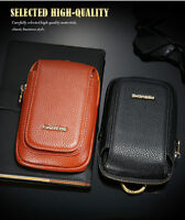 iPhone XR 8 7 Leather Wallet Flip Pouch Bag Belt Clip Holster Zipper Case Cover