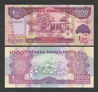 SOMALILAND  1000 sh  2011  P20  Uncirculated   Banknotes