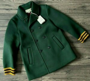 GUCCI DOUBLE BREASTED BEE BUTTONS PEA COAT SIGNATURE COLOURS AGE 8 YEARS BNWT