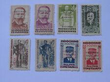 8 Indochina Indochine Vietnam Stamps Overprint