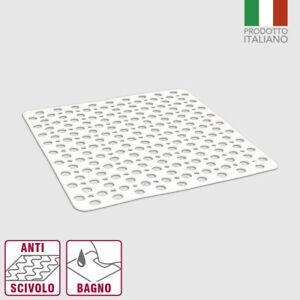 tappeto piatto doccia vasca ventose gomma antiscivolo 53x53