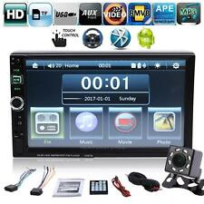 "Bluetooth 7"" Android 2 DIN Car Stereo Radio MP3 MP5 Player Mirror Link + Camera"
