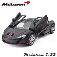 Black McLaren P1 Sports Car Vehicle 1/32 Alloy Diecast Car Model w/light&sound