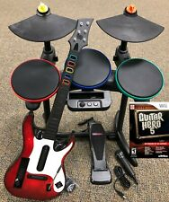 Guitar Hero 5 Super Bundle BAND SET Kit Drums+Mic+Guitar Game Nintendo Wii Wii-U