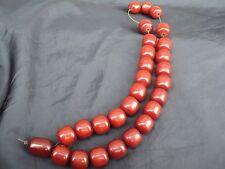 Original antique ottoman faturan amber prayer beads 95.3 grams!