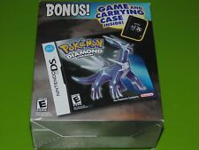 Pokemon: Diamond Version (Nintendo DS, 2007) Bonus Carrying Case Big Box RARE