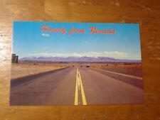 Vintage Postcard Howdy From Nevada, Highway