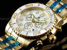 Deep Blue Sea Ram Sapphire Screw Down Chrono PVD SS Ceramic Bezel 500M Watch