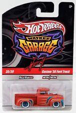 Hot Wheels Custom '56 Ford Truck Wayne's Garage #T0408 New NRFP 2009 Orange 1:64