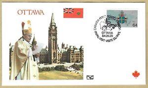 Ersttagsbrief FDC Papst Johannes Paul II - OTTAWA Kanada 1984
