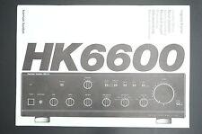 HARMAN/KARDON HK6600 Original Bedienungsanleitung/User/Owner`s Manual!