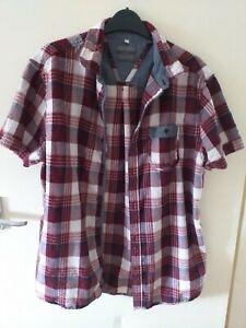 john rocha mens summer  shirt cheese cloth seersucker size l