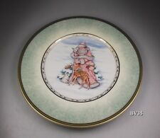 "FITZ & FLOYD WINTER HOLIDAY SALAD PLATE  9 1/4"" - GREEN PORTRAIT - PERFECT"