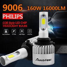 PAIR  9006 160W 16000LM PHILIPS LED Headlight Kit Beam Bulbs 6500K High Power