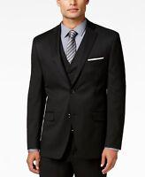$474 Alfani 46r Men Slim-Fit Black Solid 2-Button Sport Coat Blazer Suit Jacket