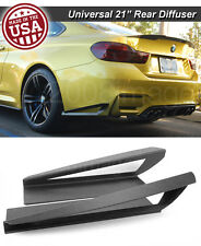 "21"" G3 Rear Bumper Wing Lip Apron Splitter Diffuser Canard w/ Vent For BMW"
