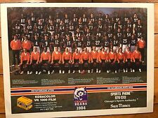 1984 CHICAGO BEARS TEAM PHOTO POSTER SUN TIMES 17 X 22.5""