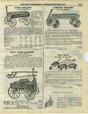 1932 PAPER AD Coaster Wagon Flying Ebony Blue Ribbon Sonny Express Farm