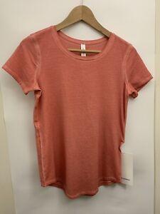 Lululemon Love Crew Tee *Fade NWT Size 2 4 6 10 SURC Orange Dye Pima Cotton