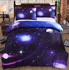 Purple Universe Single/Queen Size Bed Quilt/Doona/Duvet Cover Set Pillow Cases