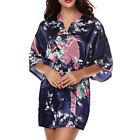 mujer encaje de flores Bata Kimono Boda Vestido Dama Honor Satén Seda pijama